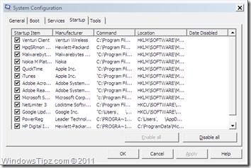 MSConfig Utility